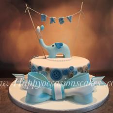 Baby shower elephant ...