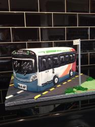 Novelty bus wedding cake ...
