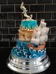 Pirate theme wedding cake
