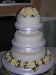 Three tier and roses...
