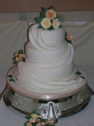 Three tier with drapes